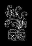 Digital kamera för foto med blom- design Royaltyfria Bilder