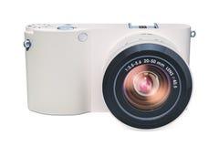 Digital kamera, mirrorless utbytbar-Lens kamera rende 3D Arkivbilder