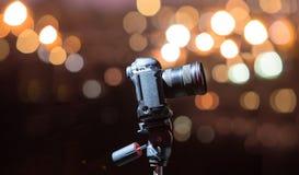 Digital kamera nattsikten av staden Royaltyfria Foton