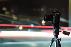 Digital kamera nattsikten av staden Royaltyfri Bild