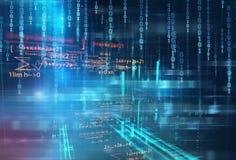 Digital-Kennziffer-Zusammenfassungstechnologiehintergrund Lizenzfreie Stockbilder