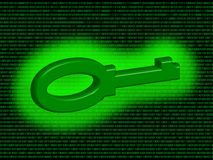 Digital key Royalty Free Stock Images