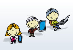Digital kids Stock Photo