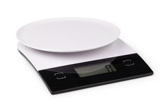 Digital kitchen scale Royalty Free Stock Images