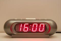 Digital klocka Arkivbild