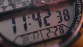 Digital klocka som räknar tid, sekunder, minuter och timmar räkna arkivfilmer