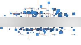 Digital-Kommunikation und globales Geschäft Abbildung 3D stock footage