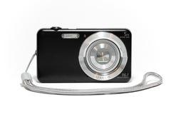 Digital kompakt kamera med remmen Arkivfoto