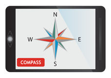 Digital kompass Arkivbild