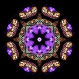 Digital konstdesign, ljus garnering royaltyfri illustrationer