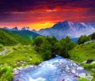 Digital konstverk i vattenfärgmålningstil Royaltyfri Bild