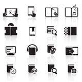 Digital książki ikony set01 Zdjęcia Stock