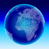 Digital-Kugel. Afrika, Europa. Stockfotografie
