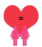 Digital-Kunst-Abbildung der weiblichen Paare erscheint im Rosa in f Stockbild