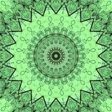 Digital-Kunstdesign mit grünem mit Filigran geschmücktem Muster Stockfotos