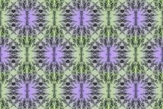 Digital-Kunstdesign mit grünem und lila mit Filigran geschmücktem Muster Stockfoto
