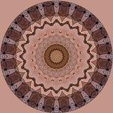 Digital-Kunstdesign mit rosafarbenem und braunem mit Filigran geschmücktem Muster Lizenzfreie Stockfotografie