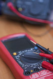 Digital Laboratory Tester Multimeter Device with Two Probes Conn Stock Photos