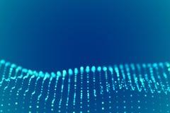 Digital landscape or sound waves visualization. Big data concept. stock illustration
