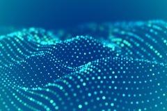 Digital landscape or sound waves visualization. Big data concept. royalty free illustration