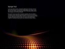 Digital-Landschaft mit geometrischem Lizenzfreie Stockfotografie
