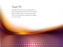 Digital-Landschaft mit geometrischem Stockfotos