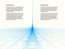 Digital-Landschaft mit geometrischem Lizenzfreies Stockfoto