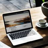 Digital Laptop Travel Planning Concept Royalty Free Stock Image