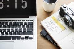 Digital Laptop Working Camera Concept Stock Image