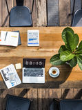 Digital Laptop Working Global Business Concept Royalty Free Stock Image
