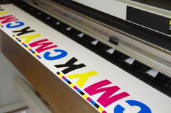 Plotter printing CMYK Stock Photography