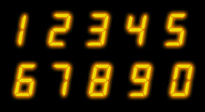 Digital lcd numbers Royalty Free Stock Images