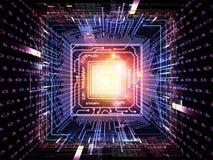 Digital-Leben von CPU lizenzfreie stockfotos