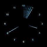 Digital LED Analog Clock. A digital representation of an analogue (analog) clock face, with second hand shown in motion royalty free stock photos