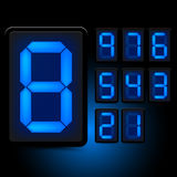 Digital LED Numbers. Grouped elements, vector illustration Stock Images