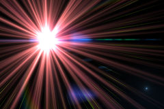 Digital lens flare Royalty Free Stock Images
