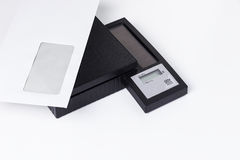 Digital letter scale. Black digital letter with letter on it Stock Photos