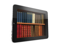 Digital Library Tablet Stock Images