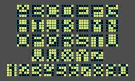 Digital liczby, listy, czerń i kolor żółty i, Obrazy Royalty Free