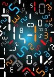 Digital liczy tło Obrazy Stock