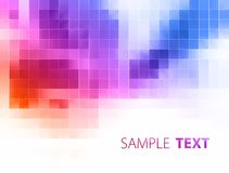 Color mosaic on white background. Raster graphics. Digital light background with colorful mosaic on a white. Raster graphics vector illustration