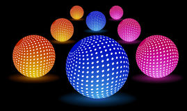 Digital Light Balls. This is file of EPS10 format Royalty Free Stock Photo