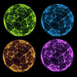 Digital Light Balls Royalty Free Stock Photography