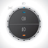 Digital light control gauge for automobiles Royalty Free Stock Image