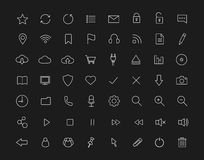 Digital linear icons set. Black Stock Images