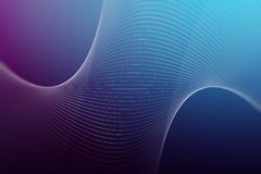 Digital lines background. Technology, art and design concept. 3D Rendering Stock Photography