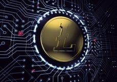 Digital Litecoin Stock Photos