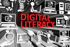 Free DIGITAL LITERACY Concept Blurred Background Royalty Free Stock Photography - 148034007