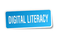Digital literacy square sticker Royalty Free Stock Image