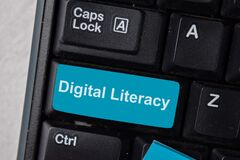 Free Digital Literacy Write On Keyboard Isolated On Laptop Background Stock Photo - 193878250